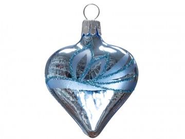 Vánoční srdce bleděmodré, lístky