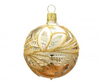 Vánoční koule šampáňo, lístky