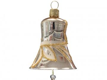 Vánoční zvonek šampáňo, lístky