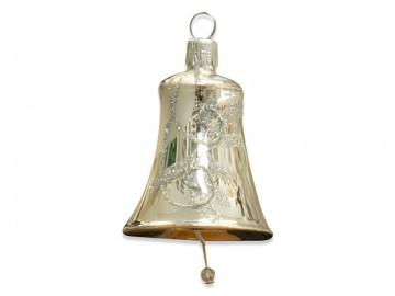 Vánoční zvonek stříbrný, spirálka