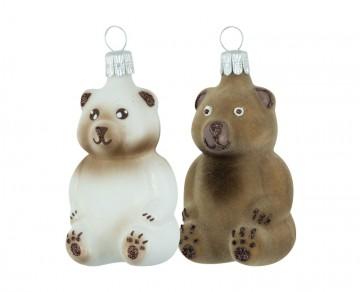 Skleněná figurka medvídek