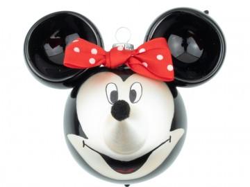 Skleněná figurka Minnie Mouse, černo-stříbrná