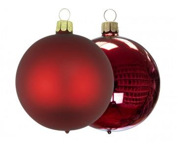 Vánoční koule vínová, matná a lesklá
