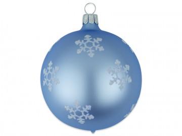 Vánoční koule bleděmodrá, vločka