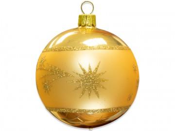 Vánoční koule světle zlatá, kometa