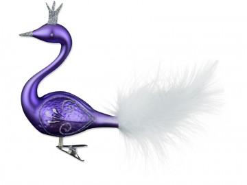 Skleněná labuť, světle fialová