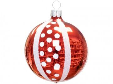 Vánoční koule červená, retro