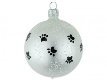 Vánoční koule perleťová, dětský motiv