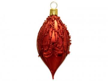 Vánoční oliva červená, perličky