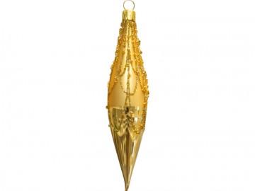 Vánoční raketa světle zlatá, perličky