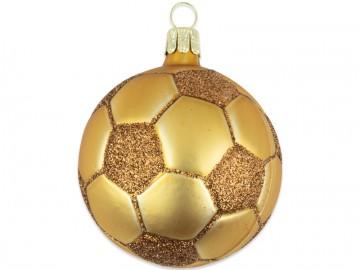 Vánoční ozdoba míč, zlatá