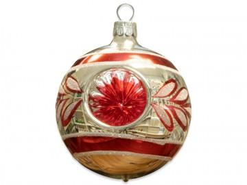 Vánoční koule stříbrná, reflektor