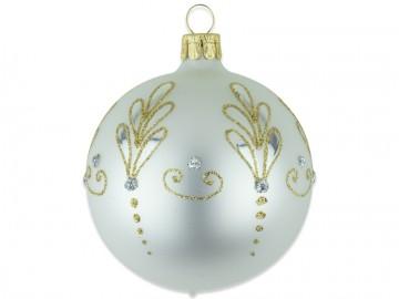 Vánoční koule perleťová, lístek