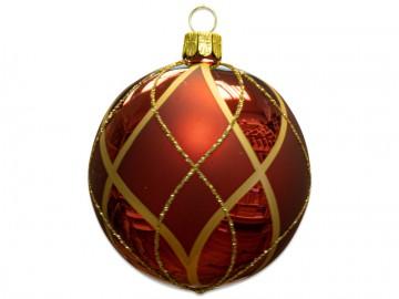 Vánoční koule bordó, síťka