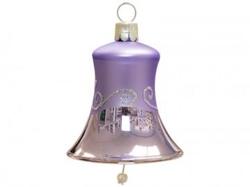 Vánoční zvonek světle fialový, spirálka