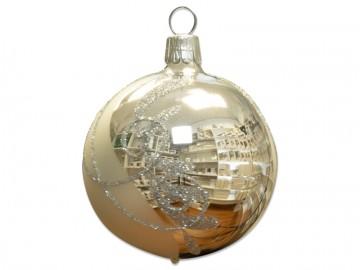 Vánoční koule stříbrná, spirálka