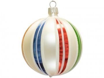 Vánoční koule perleťová, retro