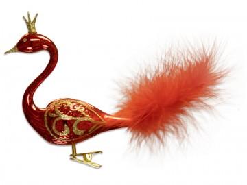 Skleněná labuť, červená