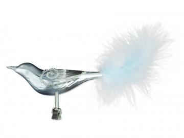 Skleněný ptáček, stříbrný