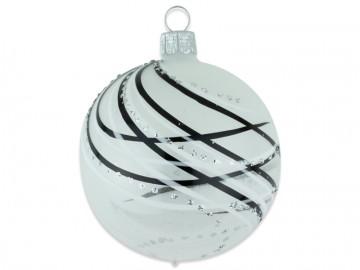 Vánoční koule čirá, čáry