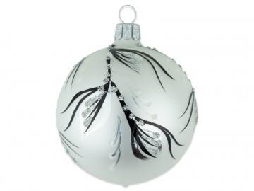 Vánoční koule perleťová, větvička