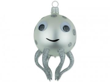 Skleněné zvířátko chobotnice, perleťová