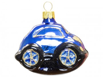 Skleněné auto, modré