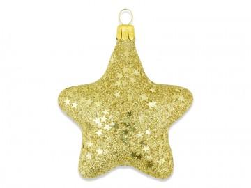 Vánoční ozdoba hvězda, tmavě zlatá