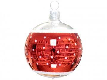 Vánoční koule stříbrná, retro
