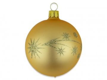 Vánoční koule tmavě zlatá, kometa