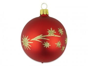 Vánoční koule červená, kometa