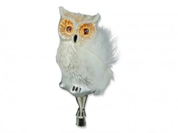 Skleněný ptáček sova, perleťová