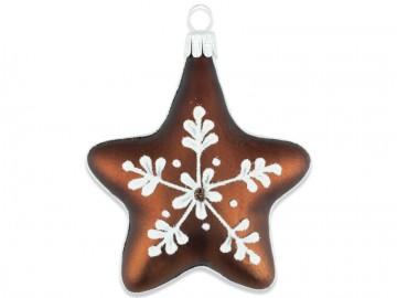 Vánoční ozdoba hvězda, čokoládová
