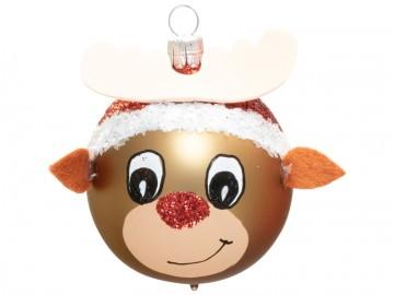 Vánoční ozdoba hlava soba