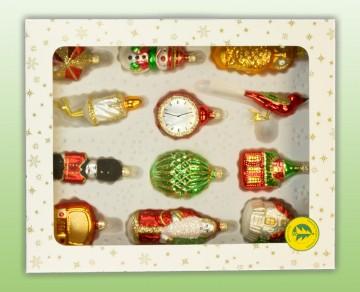 Skleněné vánoční figurky - mix