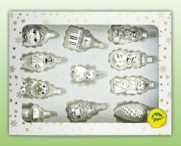 Skleněné figurky mix, perleťová