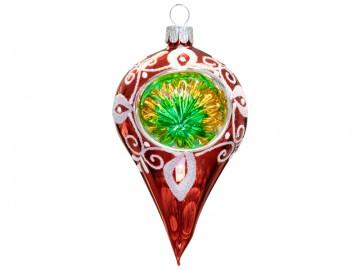 Vánoční ozdoba slza, červená