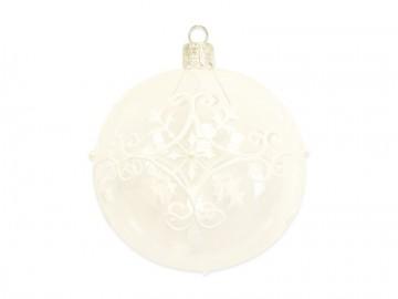 Vánoční koule čirá, ornamenty