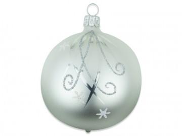 Vánoční koule perleťová, hvězdičky