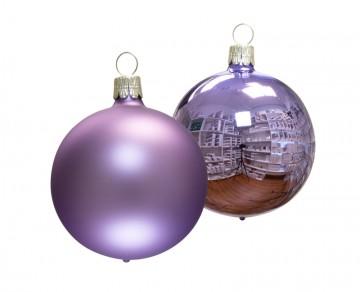 Vánoční koule světle fialová