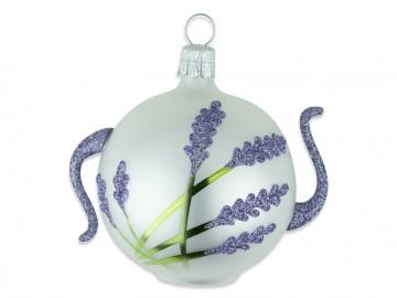 Vánoční ozdoba levandule, perleťová