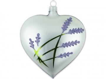 Vánoční srdce perleťové, levandule