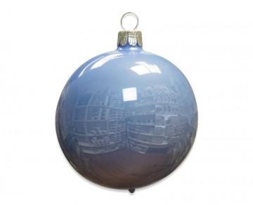 Vánoční koule světle modrá, porcelánový odlesk