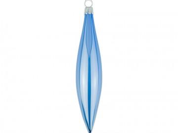 Vánoční raketa modrá, porcelánový odlesk
