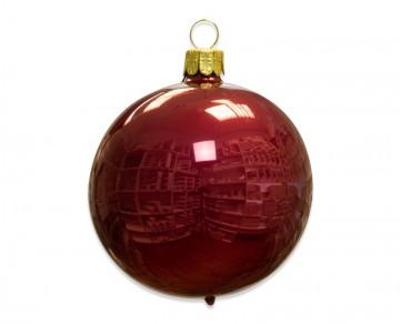 Vánoční koule vínová, porcelánový odlesk