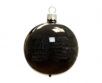 Vánoční koule černá, porcelánový odlesk