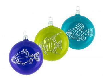 Vánoční ozdoba placka s rybou