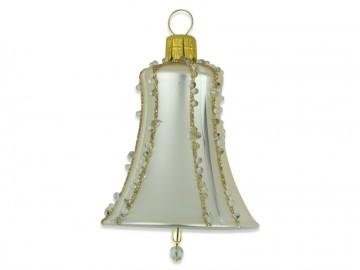 Vánoční zvonek šampáňo, perličky