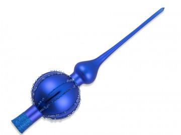 Vánoční špice modrá, perličky