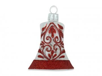 Vánoční zvonek čirý, krajka
